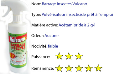 barrage anti insectes vulcano insecticides et raticides. Black Bedroom Furniture Sets. Home Design Ideas